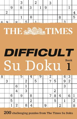 The Times Difficult Su Doku Book 1: 200 Challenging Puzzles from the Times (Paperback)