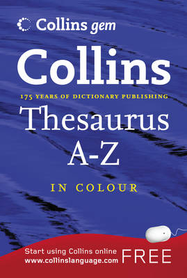Thesaurus A-Z - Collins Gem (Paperback)