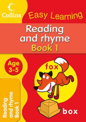 Reading and Rhyme - Collins Easy Learning Age 3-5 (Paperback)