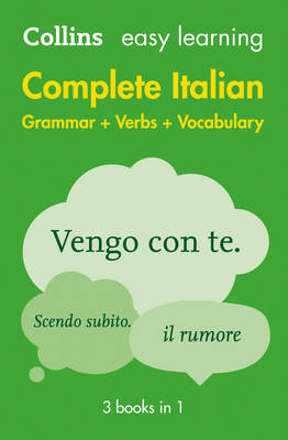 Easy Learning Complete Italian Grammar, Verbs and Vocabulary (3 books in 1) - Collins Easy Learning Italian (Paperback)
