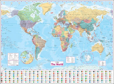 Collins World Wall Paper Map (Sheet map, rolled)