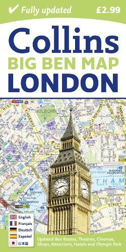 London Big Ben Map (Sheet map, folded)