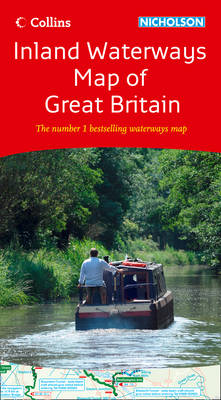 Collins Nicholson Inland Waterways Map of Great Britain (Sheet map, flat)