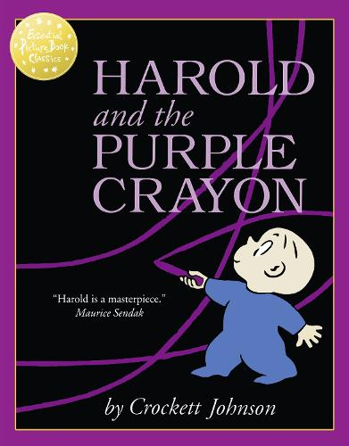 Cover of the book, Harold and the Purple Crayon.