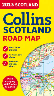 2013 Collins Map of Scotland (Sheet map, folded)
