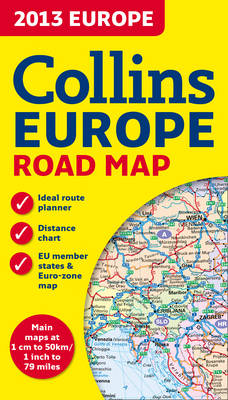 2013 Collins Map of Europe (Sheet map, folded)