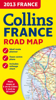 2013 Collins Map of France (Sheet map, folded)