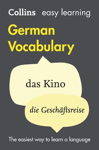 Easy Learning German Vocabulary - Collins Easy Learning German (Paperback)
