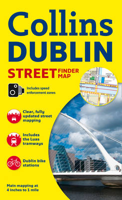 Collins Dublin Streetfinder Colour Map (Sheet map, folded)