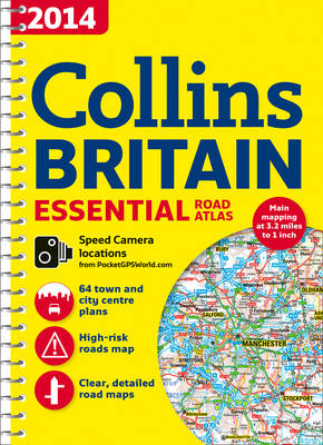 2014 Collins Essential Road Atlas Britain (Spiral bound)