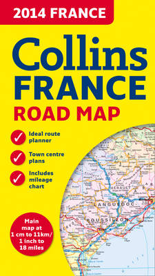 2014 Collins Map of France (Sheet map, folded)