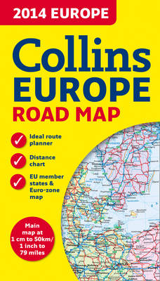 2014 Collins Map of Europe (Sheet map, folded)
