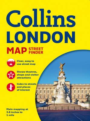 Collins London Streetfinder Map (Sheet map, folded)