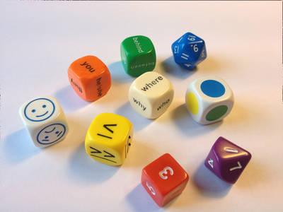 Mini Flashcards Language Games: Dice - Dice Pack - Mini Flashcards Language Games