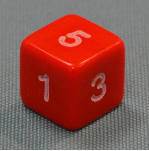 Dice - Numbers 1 - 6 - Mini Flashcards Language Games