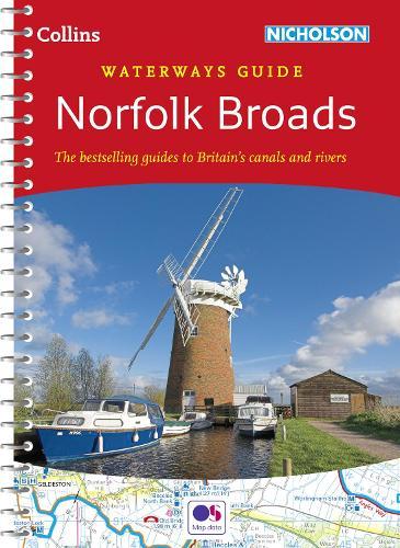 Norfolk Broads - Collins Nicholson Waterways Guides (Spiral bound)