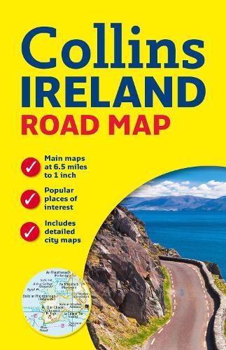 Ireland Road Map (Sheet map, flat)
