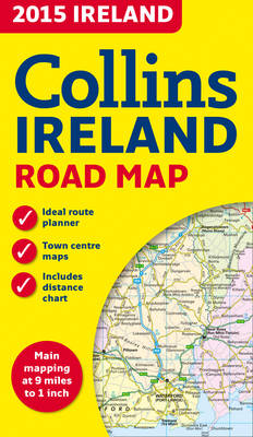 2015 Collins Map of Ireland (Sheet map, folded)