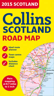 2015 Collins Map of Scotland (Sheet map, folded)