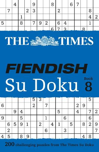 The Times Fiendish Su Doku Book 8: 200 Challenging Su Doku Puzzles (Paperback)