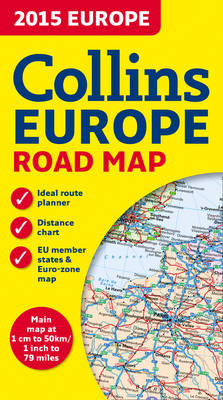 Collins Map of Europe 2015 (Sheet map, folded)