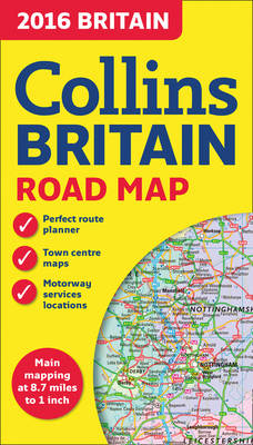 2016 Collins Map of Britain (Sheet map, folded)