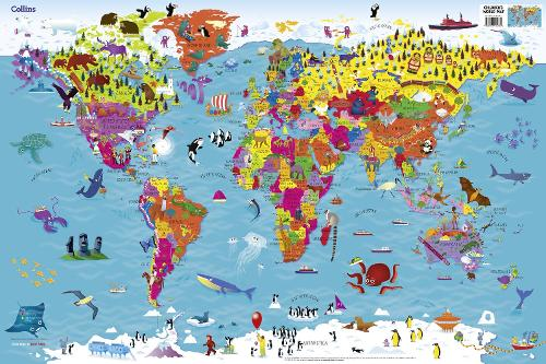 Collins Children's World Map (Sheet map, rolled)