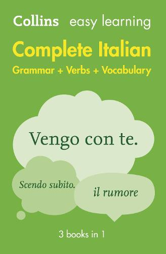 Easy Learning Italian Complete Grammar, Verbs and Vocabulary (3 books in 1) (Paperback)