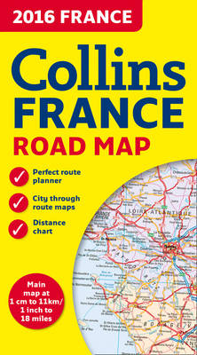 2016 Collins Map of France (Sheet map, folded)
