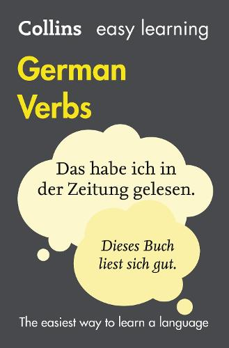Easy Learning German Verbs: Trusted Support for Learning - Collins Easy Learning (Paperback)