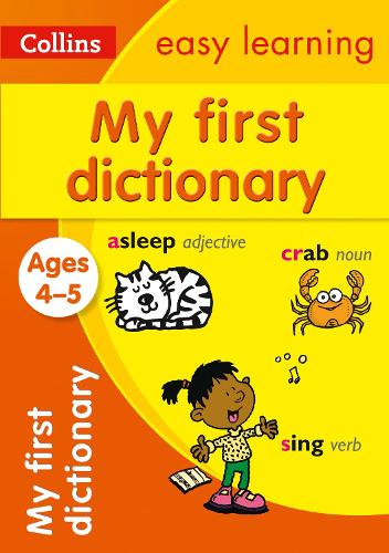My First Dictionary Ages 4-5 - Collins Easy Learning Preschool (Paperback)