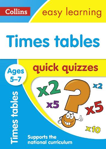 Times Tables Quick Quizzes Ages 5-7 - Collins Easy Learning KS1 (Paperback)