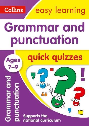 Grammar & Punctuation Quick Quizzes Ages 7-9 - Collins Easy Learning KS2 (Paperback)