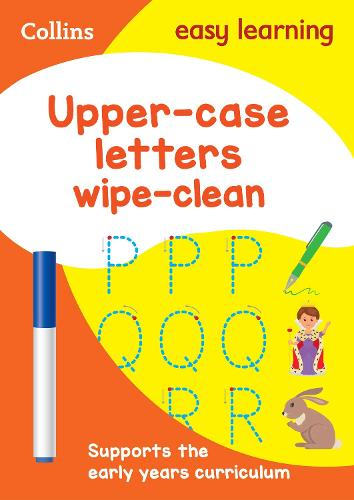Upper Case Letters Age 3-5 Wipe Clean Activity Book: Ideal for Home Learning - Collins Easy Learning Preschool