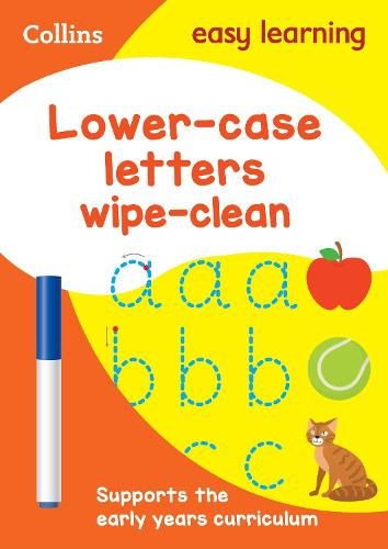 Lower Case Letters Age 3-5 Wipe Clean Activity Book - Collins Easy Learning Preschool