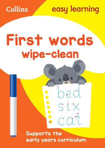 First Words Age 3-5 Wipe Clean Activity Book - Collins Easy Learning Preschool