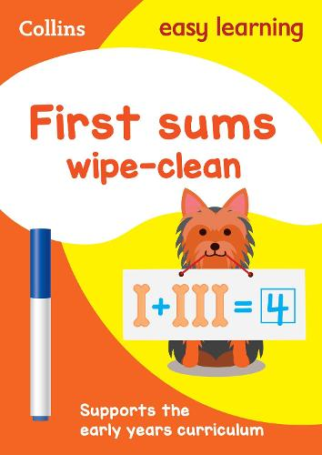 First Sums Age 3-5 Wipe Clean Activity Book: Ideal for Home Learning - Collins Easy Learning Preschool