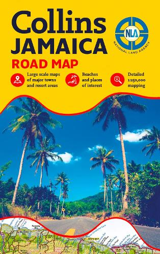 Jamaica Road Map (Sheet map, folded)