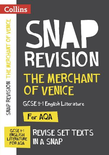 The Merchant of Venice: New Grade 9-1 GCSE English Literature AQA Text Guide - Collins GCSE 9-1 Snap Revision (Paperback)