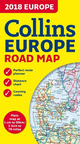 2018 Collins Map of Europe (Sheet map, folded)