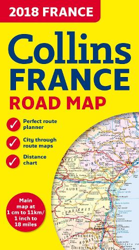 2018 Collins Map of France (Sheet map, folded)