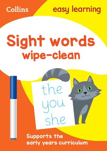 Sight Words Age 3-5 Wipe Clean Activity Book: Ideal for Home Learning - Collins Easy Learning Preschool