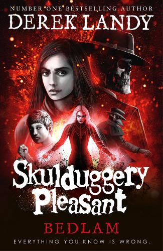 Cover of the book, Bedlam (Skulduggery Pleasant, Book 12).
