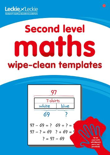 Second level wipe-clean maths templates: For the Curriculum for Excellence (Paperback)
