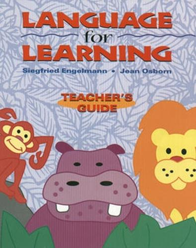 Language for Learning, Additional Teacher's Guide - DISTAR LANGUAGE SERIES (Paperback)