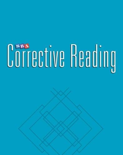 Corrective Reading Decoding Level B1, Blackline Masters - CORRECTIVE READING DECODING SERIES