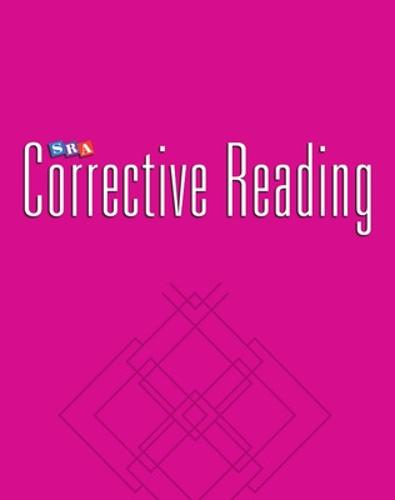 Corrective Reading Decoding Level B2, Blackline Masters - CORRECTIVE READING DECODING SERIES