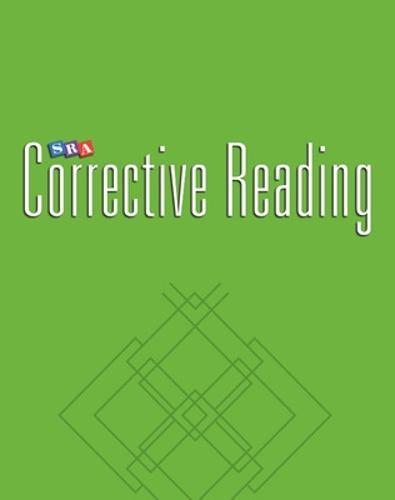 Corrective Reading Decoding Level C, Blackline Masters - CORRECTIVE READING DECODING SERIES