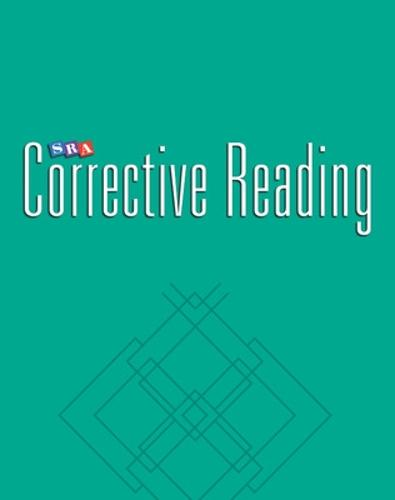 Corrective Reading Comprehension Level C, Blackline Masters - CORRECTIVE READING COMPREHENSION SERIES