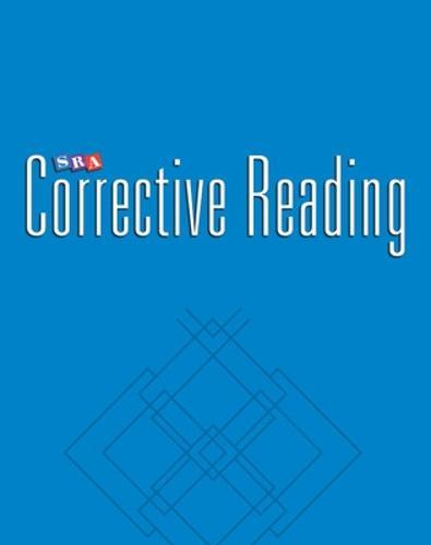 Corrective Reading Comprehension Level A, Teacher Materials - CORRECTIVE READING COMPREHENSION SERIES